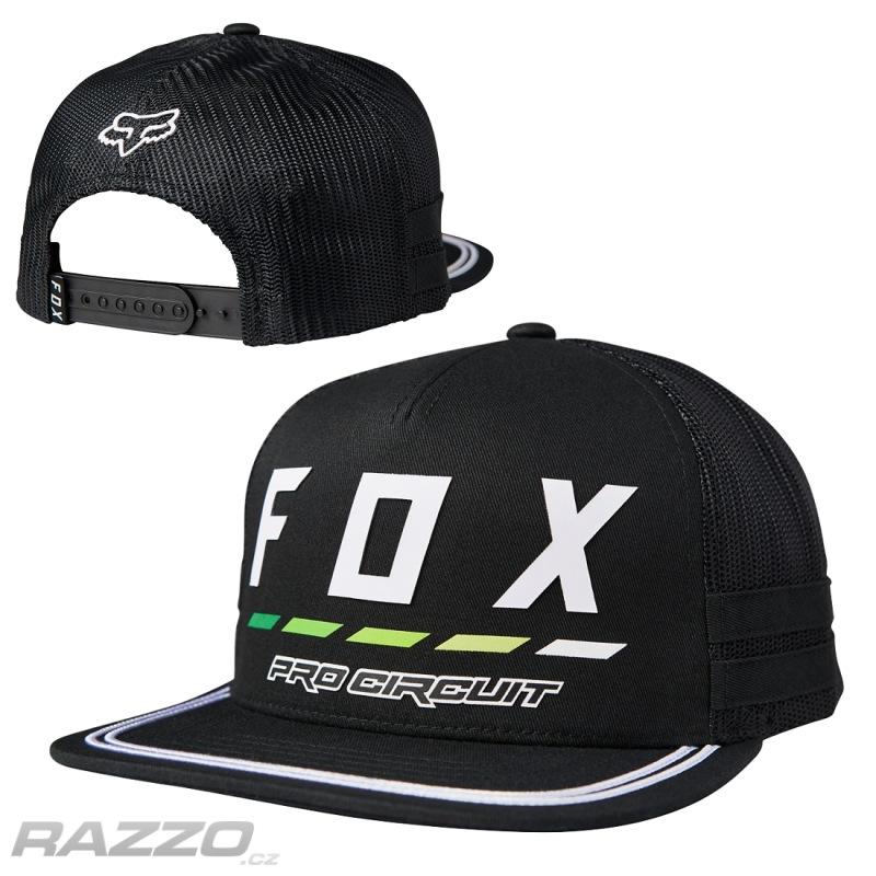 Pánská čepice FOX ProCircuit Draftr SnapBack Hat Black - čepice  3647a6f3ae65
