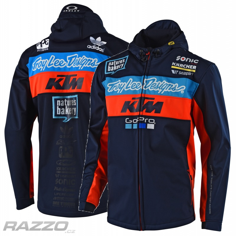 dea58e89255f Pánská bunda TroyLeeDesigns KTM Team Pit Jacket Navy 2018 - bundy ...