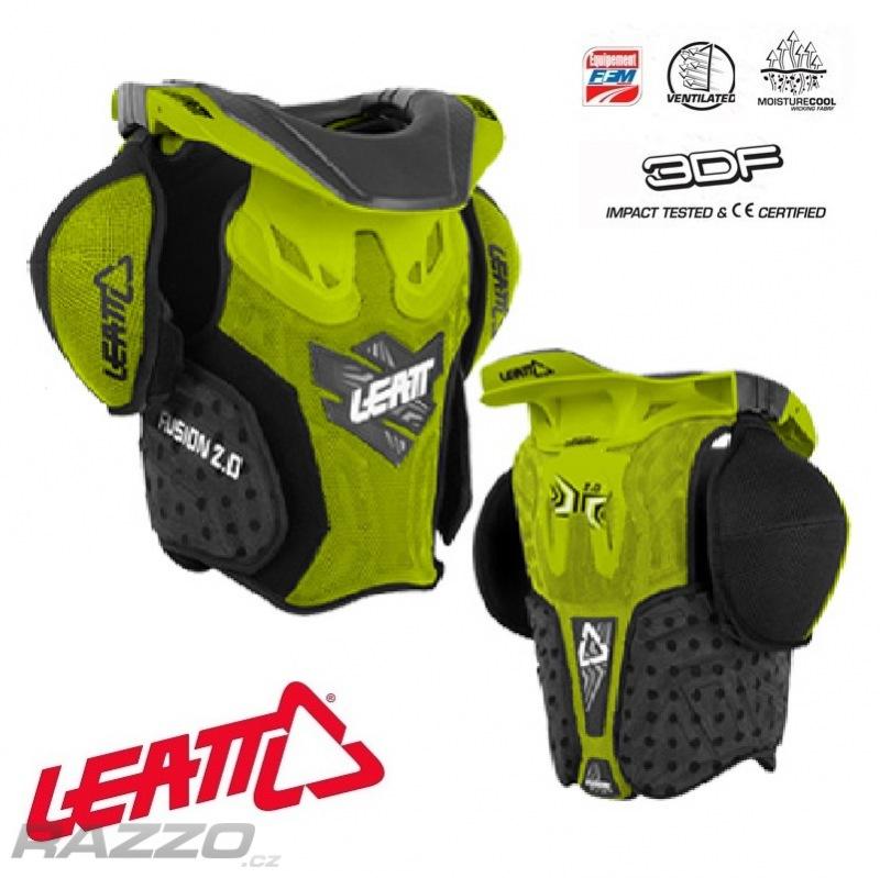 0a1825f4988 Dětský chránič krku a těla Leatt Fusion Vest 2.0 Junior Green ...