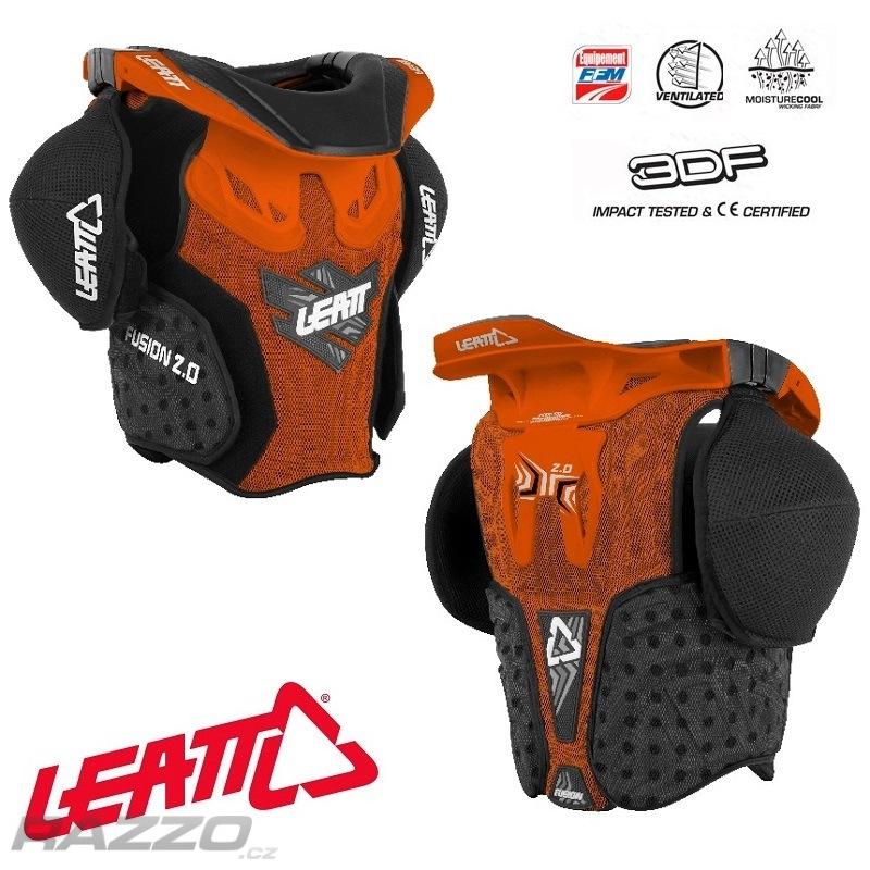 9f4d561ef26 Dětský chránič krku a těla Leatt Fusion Vest 2.0 Junior Orange Black ...