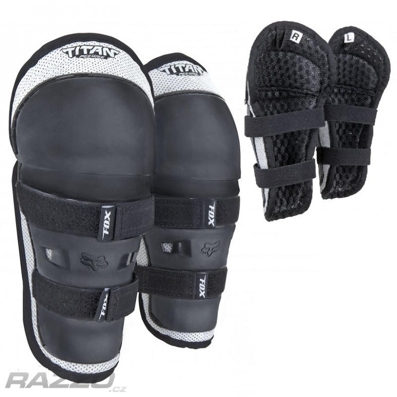 2085b046856 Dětské chrániče kolen a holení FOX PeeWee Knee Guards Black
