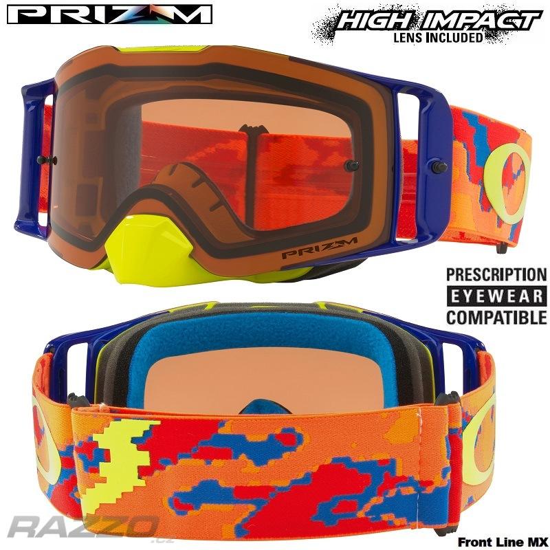 ca27f6bcf49 MX brýle Oakley Front Line MX Thermo Camo Orange Red Prizm Bronze Goggle