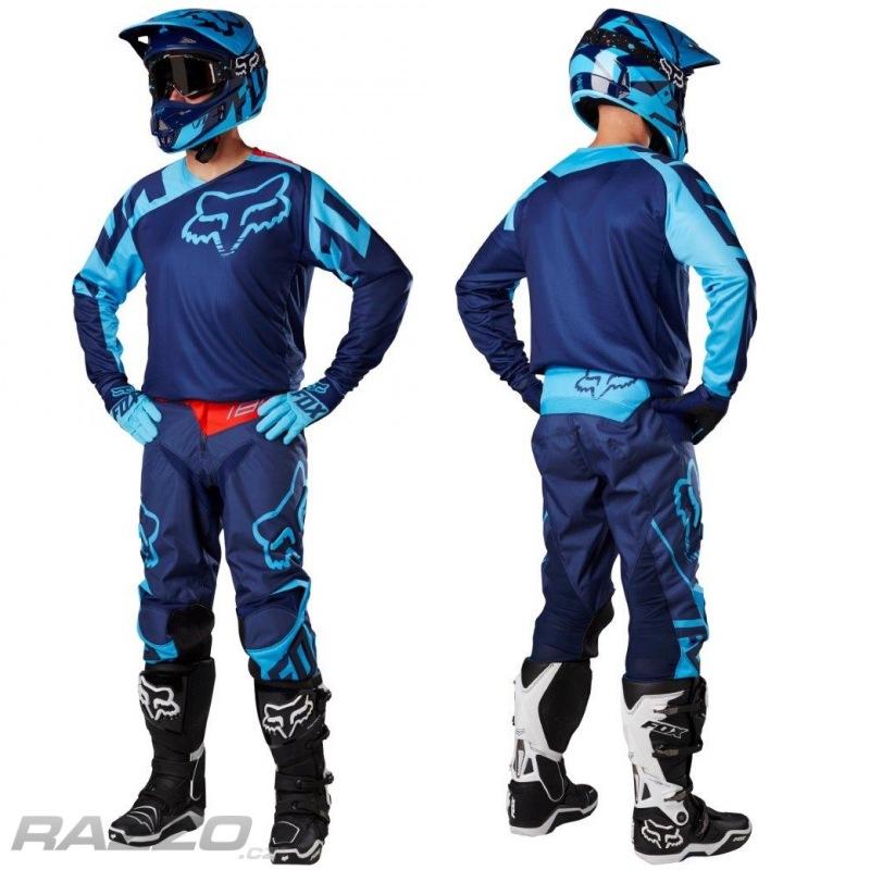 2019750194f MX komplet FOX 180 Jersey + Pant Race Navy 2017 - komplety mx   dh ...