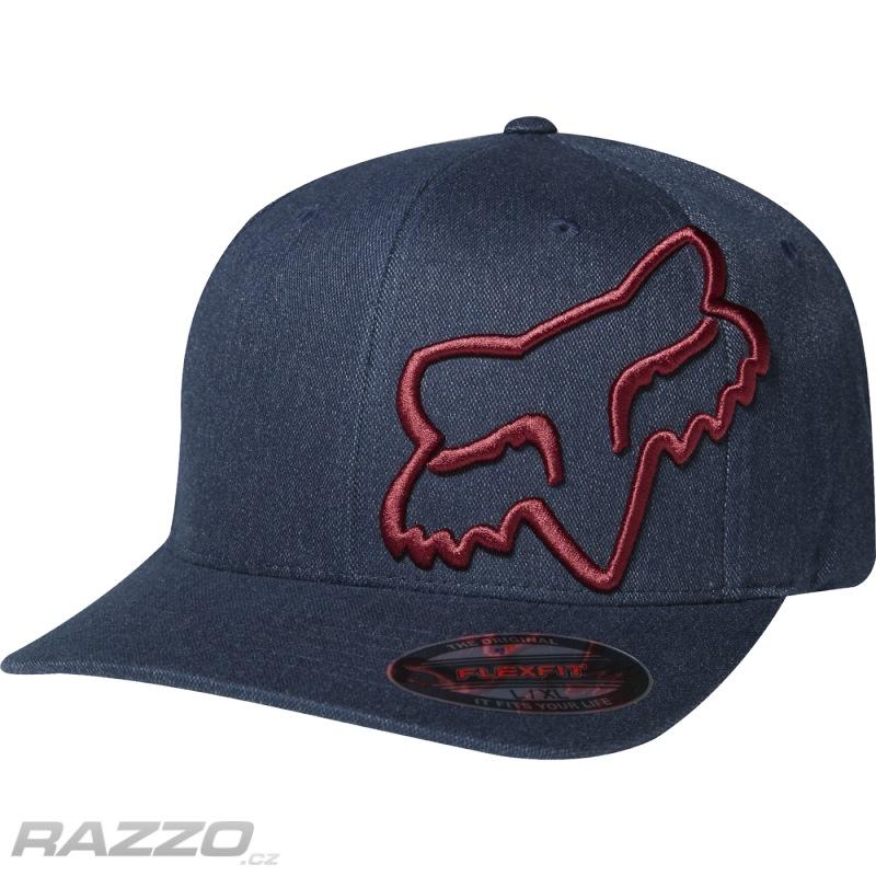 Pánská čepice FOX Clouded Flexfit Hat Midnight - čepice  ca17696f9a