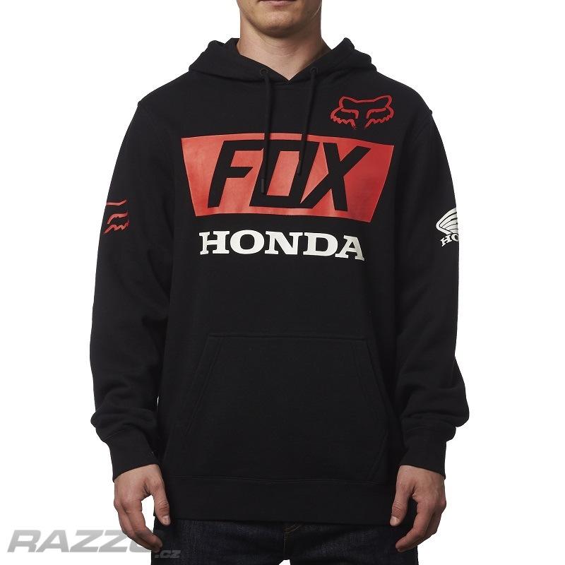 Pánská mikina FOX Honda Basic Pullover Hoody Black - mikiny a svetry ... f0ca9267b66