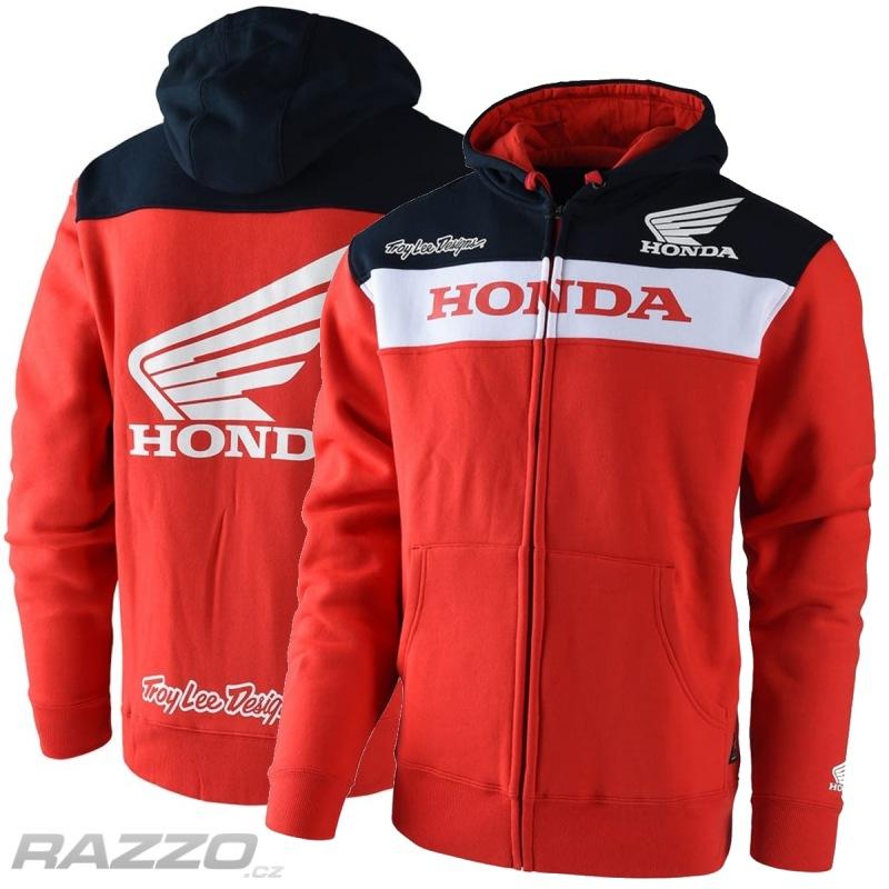 Pánská mikina TroyLeeDesigns Honda Zip Up Hoody Red - mikiny a ... d858da70ba8