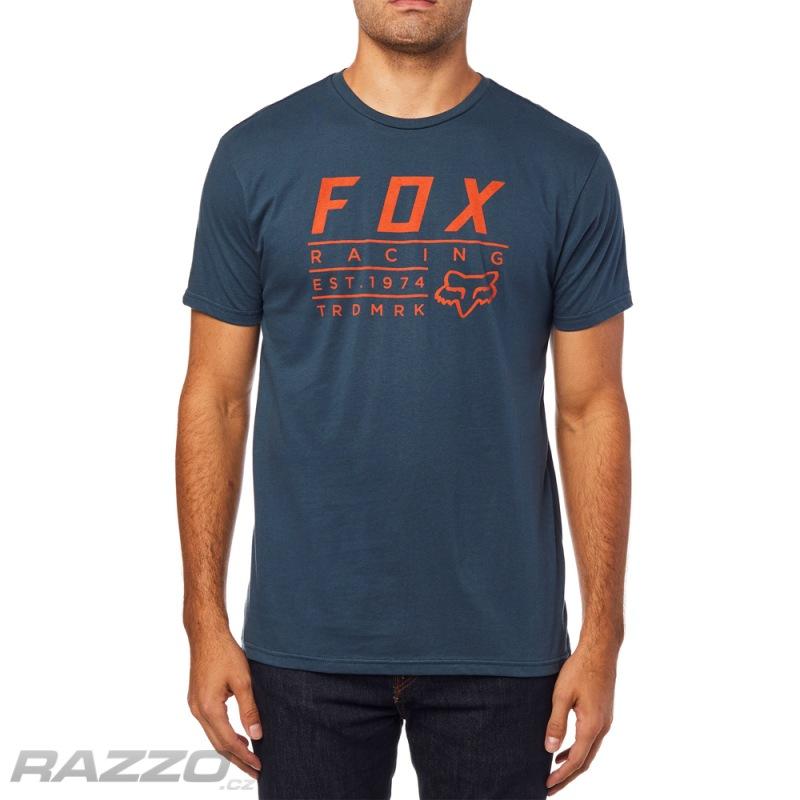 9bded14efa Pánské tričko FOX Trdmrk SS Premium Tee Navy - trička a tílka