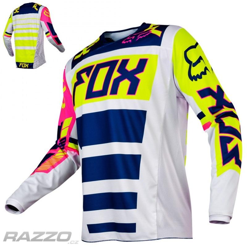 544ba51ce35 Pánský MX dres FOX 180 Falcon Jersey Navy White 2017 - dresy ...