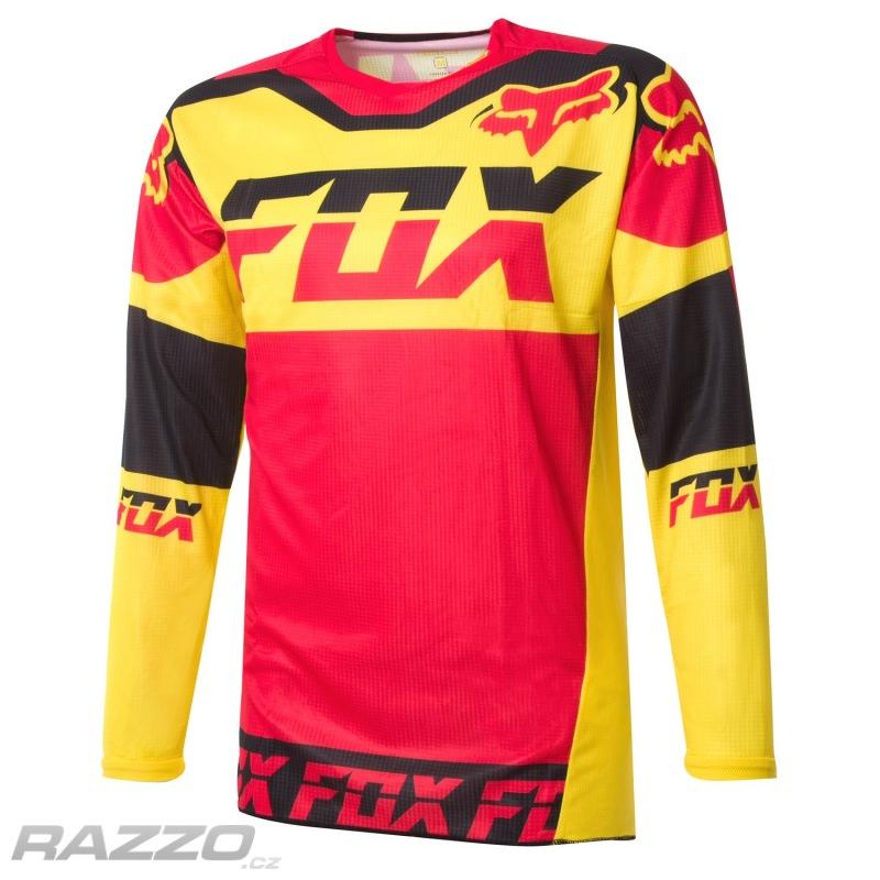 cb9d3ff2aa5 Pánský MX dres FOX 180 Mako Jersey Yellow 2016