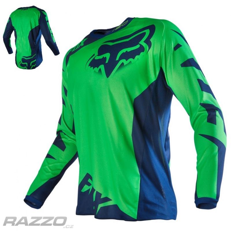 c3c8cd49f72 Pánský MX dres FOX 180 Race Jersey Flo Green 2016