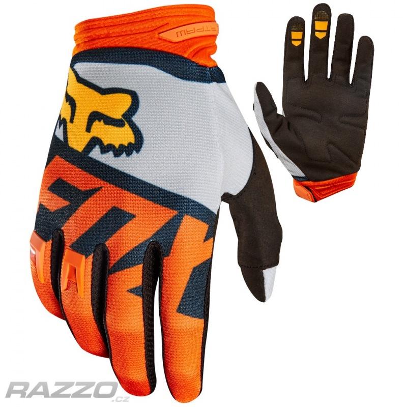 Rukavice moto a mtb FOX Dirtpaw Sayak Glove Orange 2018 b18cdf42fa