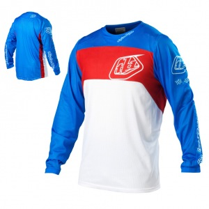 Dres TroyLeeDesigns SE Pro Corse Jersey White Blue 2013