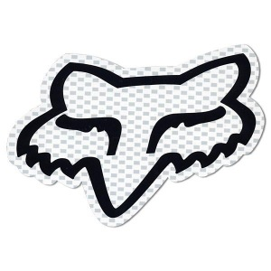"Nálepka FOX Racing Head Sticker 4"" White"