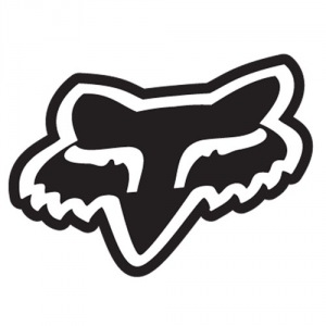 "Nálepka FOX Racing Head Sticker 4"" Black"