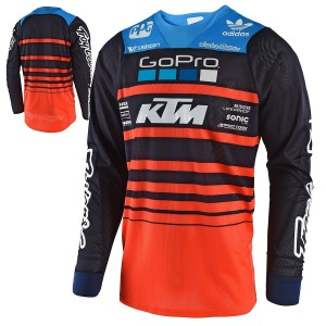 Dětský dres TroyLeeDesigns GP AIR Youth Jersey Streamline Team KTM Navy Orange 2018