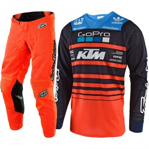Dětský komplet na motokros TroyLeeDesigns GP Air Youth Team KTM Navy Orange 2018