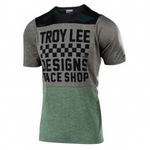 Dres na kolo TroyLeeDesigns Skyline Jersey Checkers Camo Heather Taupe 2019