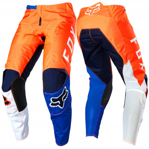 MX kalhoty FOX 180 Lovl Pant Orange Blue 2020