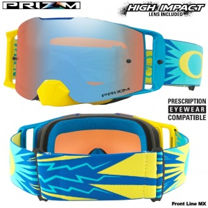 Brýle Oakley Front Line Prizm MX High Voltage Blue Yellow Goggle
