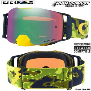 Brýle Oakley Front Line Prizm MX Thermo Camo Green Yellow Goggle