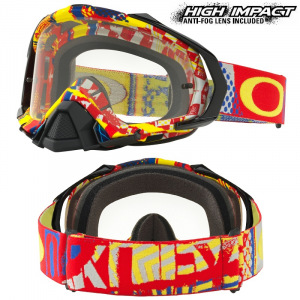 MX brýle Oakley Mayhem PRO Mosh Pit Red Blue Goggle