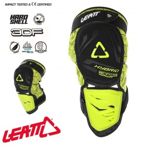 Chrániče kolen Leatt Knee Guard 3DF Hybrid Black Lime