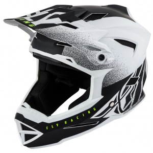 Dětská bmx helma FLY Default Helmet Youth Matte White Black 2019