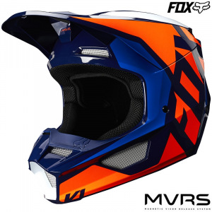 Dětská helma na motokros FOX V1 Youth Lovl Helmet Orange Blue 2020