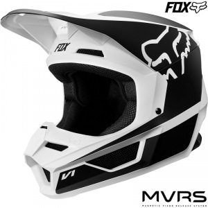 Dětská helma na motokros FOX V1 Youth PRZM Helmet Black White 2019