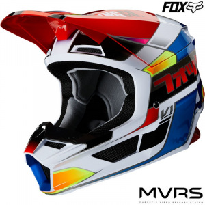 Dětská helma na motokros FOX V1 Youth Yorr Helmet Blue Red 2020