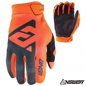 Dětské rukavice ANSWER AR-1 Youth Glove Orange Grey 2018