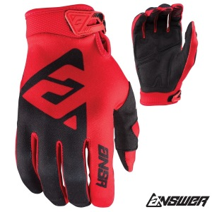 Dětské rukavice ANSWER AR-1 Youth Glove Red Black 2018
