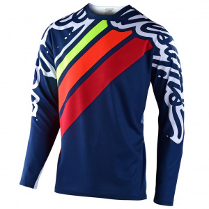 Dětský dres na kolo TroyLeeDesigns Sprint Jersey Youth Seca 2.0 Navy Red 2020
