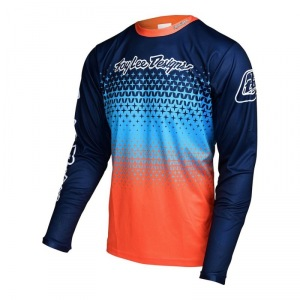Dětský dres na kolo TroyLeeDesigns Sprint Jersey Youth Starburst Orange Navy 2017