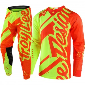 Dětský komplet na motokros TroyLeeDesigns GP Youth Shadow Flo Yellow Orange 2018