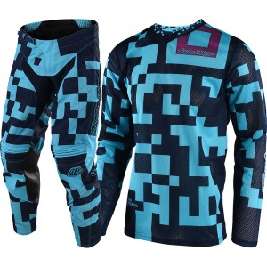 Dětský komplet TroyLeeDesigns GP Air Youth Maze Turquoise Navy 2018