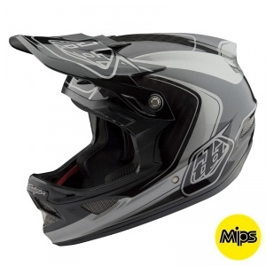 Downhill helma TroyLeeDesigns D3 Carbon Helmet MIPS Mirage Gray