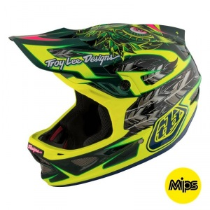 Downhill helma TroyLeeDesigns D3 Carbon Helmet MIPS Nightfall Green