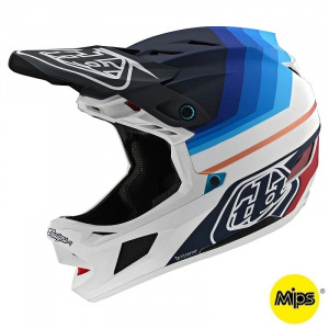 Downhill helma TroyLeeDesigns D4 Carbon Helmet MIPS Mirage Navy White 2020