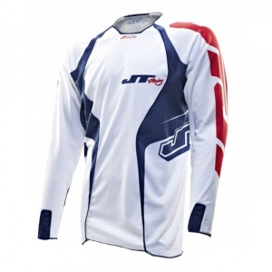 Dres JT Racing Evolve Lite Jersey White Blue Red