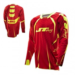 Dres JT Racing Evolve Protek Jersey Fader Red Yellow