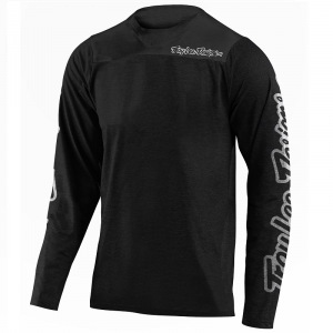 Dres na kolo TroyLeeDesigns Skyline CHILL LS Jersey Solid Black 2020