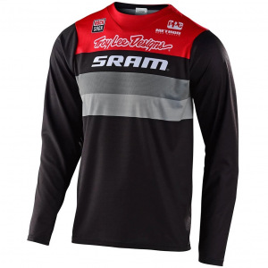 Dres na kolo TroyLeeDesigns Skyline LS Jersey Continental Sram Black Red 2020