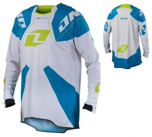 Dres One Industries Gamma Jersey White Cyan 2014