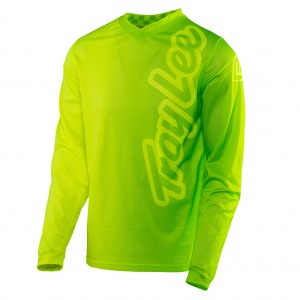 Dres TroyLeeDesigns GP AIR Jersey 50/50 Flo Yellow Green 2017
