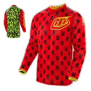 Dres TroyLeeDesigns GP AIR Jersey Anarchy Red Flo Yellow 2016