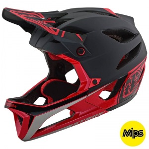 Enduro helma TroyLeeDesigns Stage Race Helmet Black Red