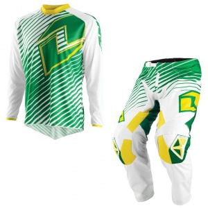 Komplet na motokros downhill bmx One Industries Atom Lines Green Yellow 2015