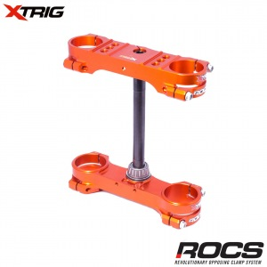 Kompletní brýle XTRIG ROCS TECH Triple Clamps KTM SX85 03-.. / Husqvarna TC85 15-.. Orange