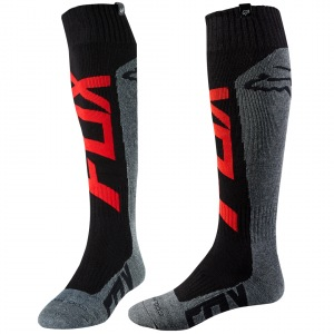 Moto ponožky FOX Coolmax Thick Sock Preme Red Charcoal 2018